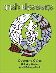 irish blessings quotes color coloring book coloring