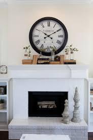 wall clock above fireplace 25 best ideas about modern fireplace