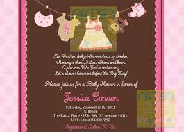 pink and brown baby shower girl baby shower invitation baby girl shower invitation
