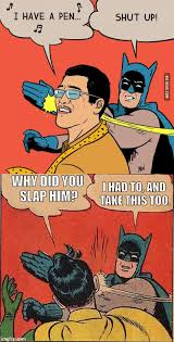 Meme Generator Batman Robin - batman slapping ppap guy and robin imgflip