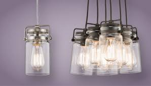 Jelly Jar Light Fixture The Vintage Brinley Collection From Kichler