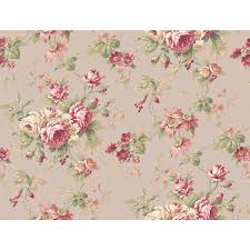york wallcoverings callaway cottage grey and red rose floral trail