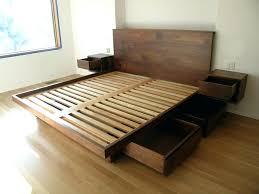 King Wooden Bed Frame Bed Frame Size Wood Wooden Platform With Storage Plans