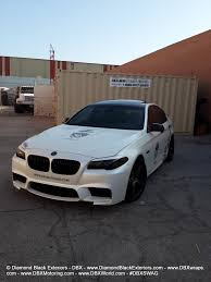 diamond bmw bmw f10 m5 wrapped in satin pearl white by dbx diamond black