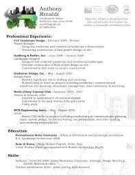 Resume Description Examples by Landscaping Skills Resume Resume For Your Job Application