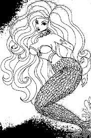 mermaid coloring pages vintage free printable mermaid coloring