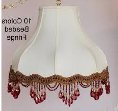 colorful l shades umbrella bell victorian l shade swag beaded fringe in 10 colors