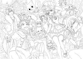fairy tail anime coloring pages for omeletta me