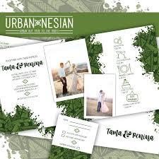 tri fold wedding invitations urbannesian trifold wedding invitation