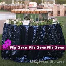 navy blue table linens vintage navy blue sequins table cloth for garden wedding party