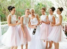 pink bridesmaid dresses lace tulle blush pink skirt bridesmaid dress wedding party