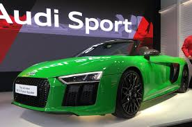 audi r8 spyder v10 plus has public debut autocar