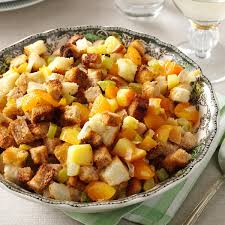 vegetarian thanksgiving stuffing apple u0026 apricot stuffing recipe taste of home