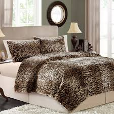 better homes and gardens faux fur bedding comforter set cheetah