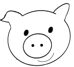 pig ears coloring page kids drawing and coloring pages marisa