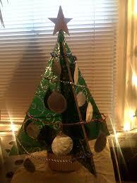 pizza box art recycled cardboard christmas tree 2008 arts