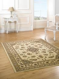 Quality Rugs Very Large New Quality Traditional Beige Rug Carpet 240 X 330 Cm