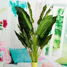 50cm lifelike leaves evergreen artificial plant simulation flowers