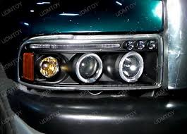 2001 dodge ram 2500 headlight assembly 94 01 dodge ram chrome dual halo projector led headlights