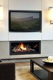 direct vent gas fireplace corner modern rocks contemporary
