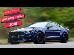 year shelby mustang 2016 ford shelby gt350 mustang yahoo autos epic ride of the year
