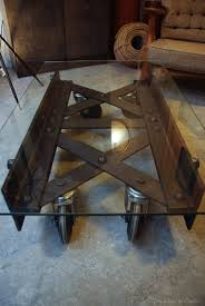 Table Basse Verre Roulette Industrielle by Chambre Table Basse Industrielle Roulette Table Basse