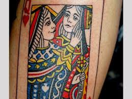 evil king queen card tattoos pictures to pin on pinterest tattooskid