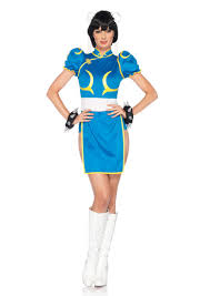 Hello Kitty Halloween Costumes by Blue 3 Piece Chun Li Costume Amiclubwear Costume Online
