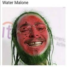 Watermelon Meme - water malone post malone know your meme