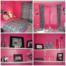 classy pink and black zebra room decor cute home decorating ideas