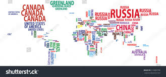 world mapcountriescontinentsnations vector stock vector 110092199