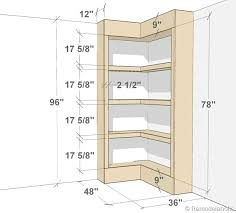 Corner Shelf Woodworking Plans by Build Your Own Corner Bookshelves