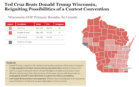 Primary Map 2016 Wisconsin Gop Primary Results And Voting Map