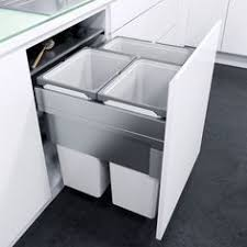 kitchen bin ideas large integrated recycling bin waste management accessories