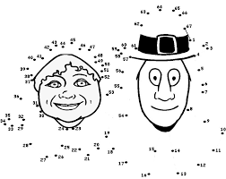 pilgrim dot to dot thanksgiving pilgrim