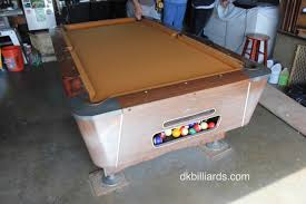 Valley Pool Tables by 60 U0027s Bar Table Goes Gold Dk Billiards Pool Table Sales U0026 Service