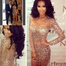 robe long sleeves evenig dresses kim kardashian dress beading