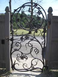 custom ornamental iron garden theme gate