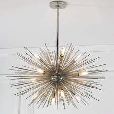 retro chandeliers mid century modern moonbeam chandelier 12 light contemporary