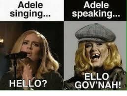 Adele Meme - adele singing adele speaking ello gov nah hello adele meme on me me