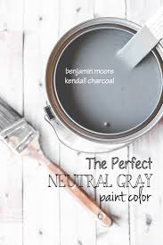 kendall charcoal perfect neutral paint color diy cozy home