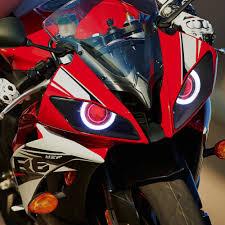 yamaha r6 halo lights kt headlight for yamaha yzf r6 2008 2016 led angel eye red demon eye