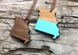 missouri state wood necklace idaho made