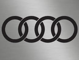 audi rings 1 x audi rings logo badge car vinyl decals stickers door windows