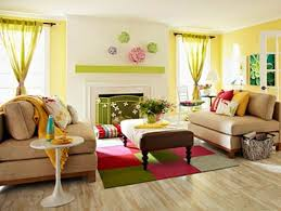 entrancing bright color combination for sitting room set at