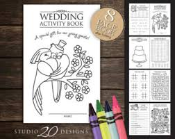 wedding coloring etsy