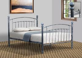5ft Bed Frame 3ft 4ft 4ft6 5ft Pewter Or Brass Metal Bed Frame With Rounded