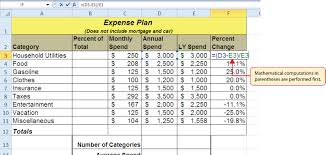 Create A Budget Worksheet Formulas