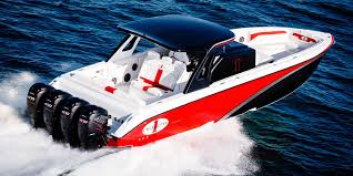 cigarette racing outboard center console boat open offshore with t top 41