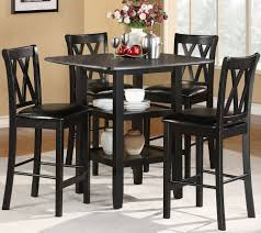 homelegance norman 5 piece counter dining room set w storage base